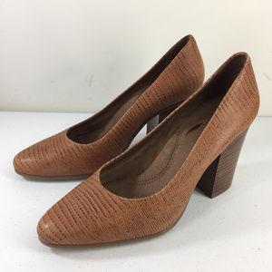 New Aerosoles 9 Heelrest Brown Leather Chunky heel